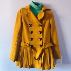 Mustered Baby Phat wool mini pea coat